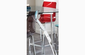 Sicily Red Acrylic Counter Chair Set of 2