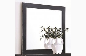 Segundo Antique Oak Square Framed Mirror