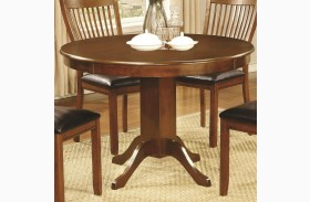Sierra Amber Round Pedestal Dining Table