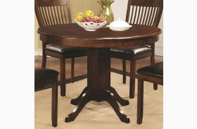 Sierra Cherry Brown Round Pedestal Dining Table