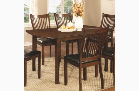 Sierra Cherry Brown Rectangular Dining Table