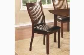 Sierra Cherry Brown Upholstered Side Chair Set of 2