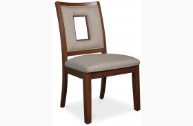 Well Mannered Urbane Brown Side Chair