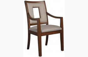 Well Mannered Urbane Brown Arm Chair