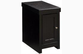 Skyline Mocha Chair Side Table with Door