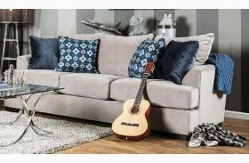 Navan Beige Velvet Sofa