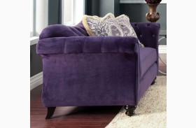 Antoinette Purple Premium Fabric Loveseat