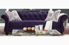 Antoinette Purple Premium Fabric Sofa