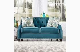 Celeste Azure Blue Loveseat