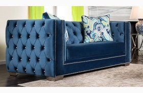 Salvatore Lapis Blue Loveseat