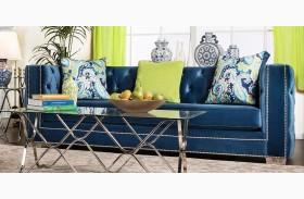 Salvatore Lapis Blue Sofa