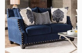 Cornelia Navy Loveseat