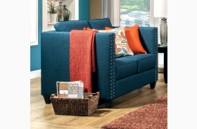 Palermo Turquoise Blue Loveseat