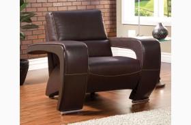 Enez Espresso Leatherette Chair