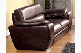 Dinar Brown Bonded Leather Loveseat