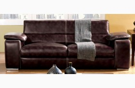 Dinar Brown Bonded Leather Sofa