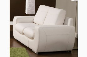 Tekir White Loveseat