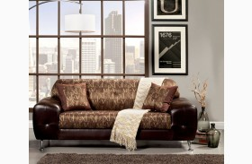 Avdira Gold Typographic Fabric Sofa