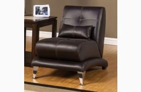 Artem Espresso Leatherette Chair