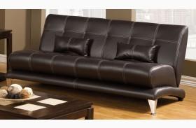 Artem Espresso Leatherette Sofa