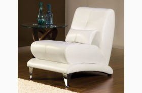 Artem White Leatherette Chair