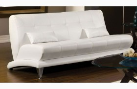 Artem White Leatherette Sofa
