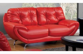 Volos Red Loveseat