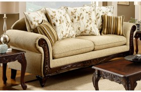 Doncaster Tan Fabric Sofa
