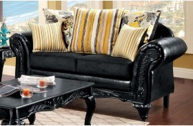 Thelon Black Loveseat