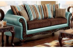 Mulligan Dark Brown Fabric Sofa