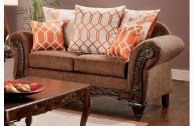 Bechet Brown Loveseat