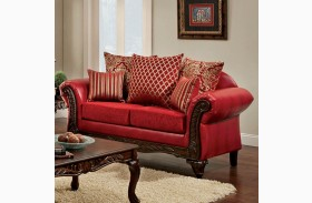 Marcus Red Loveseat