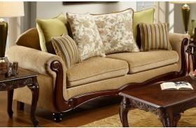 Banstead Tan Fabric Sofa