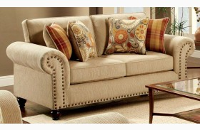 Rollins Tan Loveseat