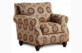 Adderley Tribal Pattern Accent Chair