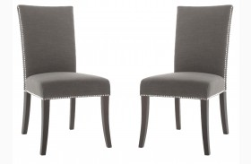 Soho Espresso Sepia Fabric Dining Chair Set of 2