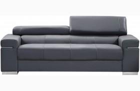 Soho Grey Leather Sofa