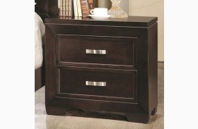 Solano Cappuccino 2 Drawers Nightstand