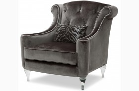 Studio Adele Gray Tufted Chair