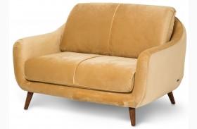Studio Brussels Gold Upholstered Loveseat
