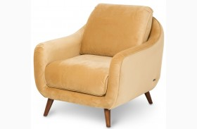 Studio Brussels Gold Upholstered Chair