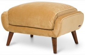 Studio Brussels Gold Upholstered Chair Ottoman