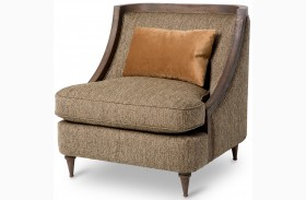Studio Dallas Haze Wood Trim Chair