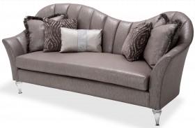 Studio Maritza Brown Channel Back Sofa