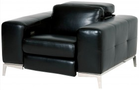 Peninsula Black Leather Strada Sofa Chair