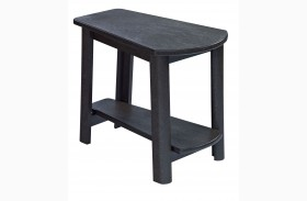 Generations Black Tapered Accent Table