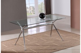 T058 Glass Rectangular Dining Table