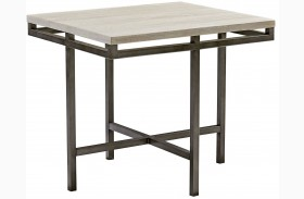 East Park Gunmetal Rectangular End Table
