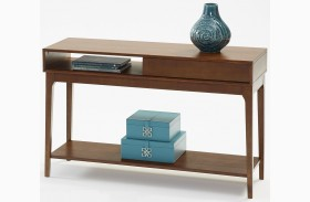 Mid-Mod Cinnamon Sofa Table
