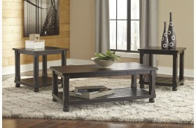 Mallacar Black 3 Piece Occasional Table Set